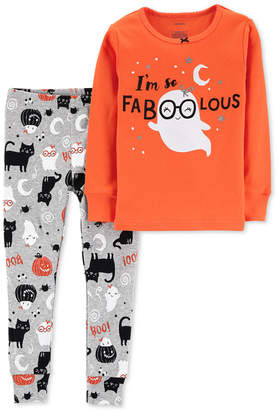 Carter's Baby Girls 2-Pc. Halloween Faboolous Pajama Set