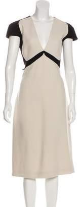 Bottega Veneta Paneled Wool Dress