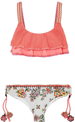 Anjuna - Francina Crochet-trimmed Printed Bikini - Pink
