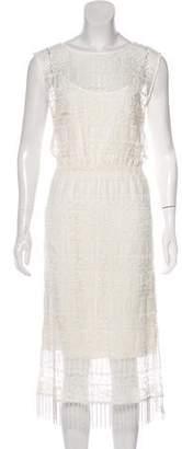 Alice + Olivia Lace Midi Dress