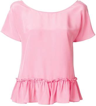 Twin-Set frill-trim blouse