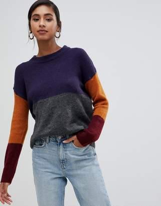 Brave Soul rubix color block sweater