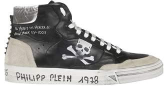 Philipp Plein Skull Print Hi-top Sneakers