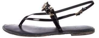 Tory Burch Logo Thong Sandals