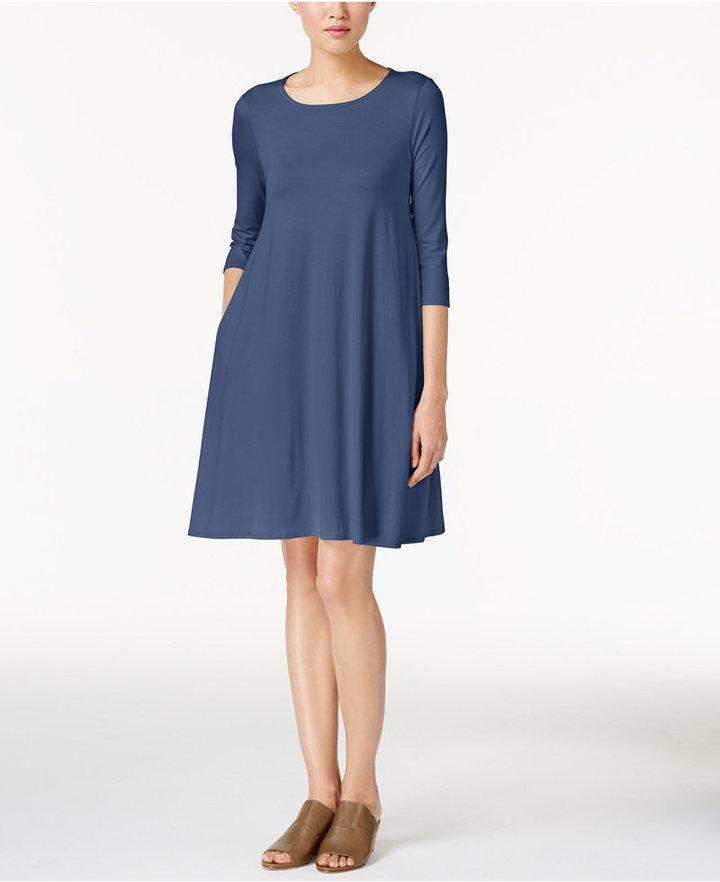Eileen Fisher Lightweight Jersey Shift Dress 3
