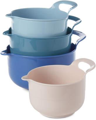 Gourmet Home 4-Piece Blue Mixing Bowl Set
