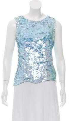 DKNY Silk Embellished Top