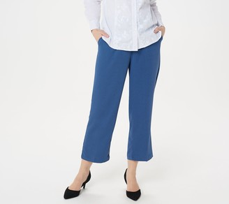 Linea By Louis Dell'olio by Louis Dell'Olio Regular Zip-Front Crop Pants