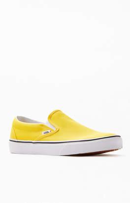 Vans Yellow Classic Slip-On Shoes