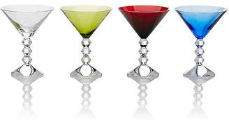 Baccarat Set Of 4 Vega Martini Glasses