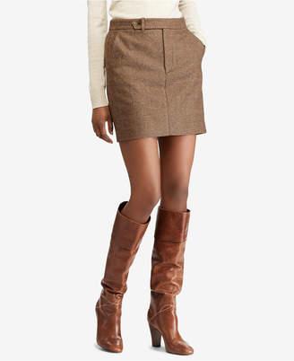 Polo Ralph Lauren (ポロ ラルフ ローレン) - Polo Ralph Lauren Houndstooth Tweed Mini Skirt