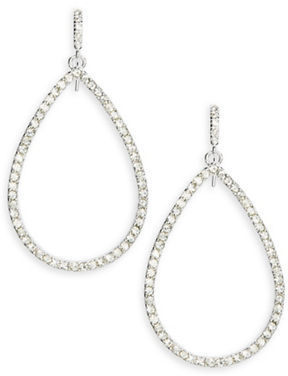 Lauren Ralph Lauren Glitz Teardrop Hoop Earrings - 1 In. $40 thestylecure.com