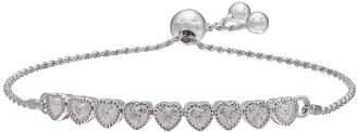 SPARKLE ALLURE Sparkle Allure Cubic Zirconia Silver-Plated Bracelet