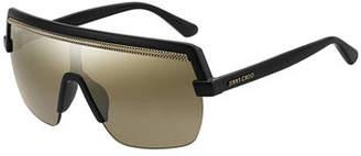 Jimmy Choo Poses Mirrored Shield Sunglasses
