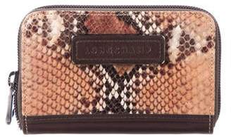Longchamp Embossed Leather Wallet