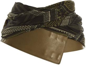 Givenchy Khaki Leather Belts
