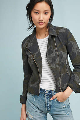 Anthropologie Camo Moto Jacket