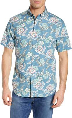 Reyn Spooner Regular Fit Furoshiki Floral Sport Shirt