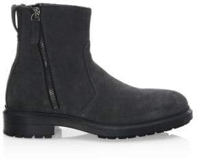 Aquatalia Travis Shearling and Suede Boots