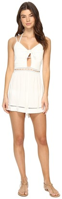 Seafolly - Botanica Tie Front Playsuit Cover-Up Women's Jumpsuit & Rompers One Piece $134 thestylecure.com