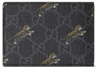 Gucci Tiger Print Bifold Wallet