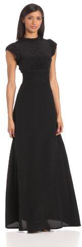 Twenty8Twelve Women's Maggie Silk Mock Neck Cap Sleeve Evening Dress