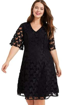 Studio 8 Womens Black Lacey Dress - Black