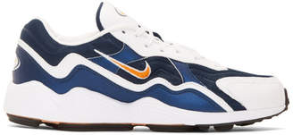 Nike White and Navy Air Zoom Alpha Sneakers