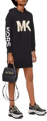 MICHAEL Michael Kors MICHAEL Studded Logo Sweatshirt Dress