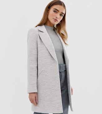 Asos DESIGN Petite textured slim coat