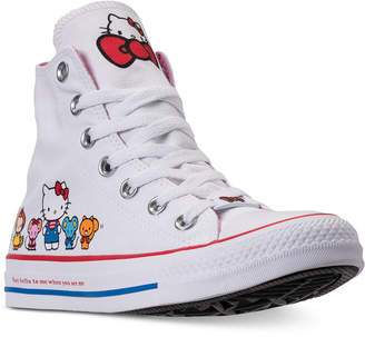 Converse Chuck Taylor High Top Hello Kitty Casual Sneakers from Finish Line