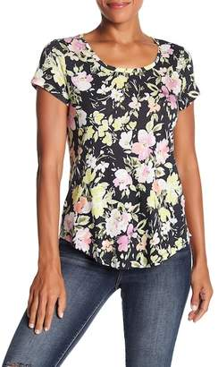 Lucky Brand Floral Printed Tee