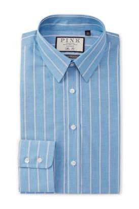 Thomas Pink Slim Fit Burgh Stripe Dress Shirt