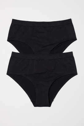 H&M 2-pack Seamless Hipster Briefs - Black