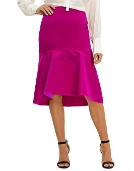 Balenciaga Double Silk Satin Skirt Godet
