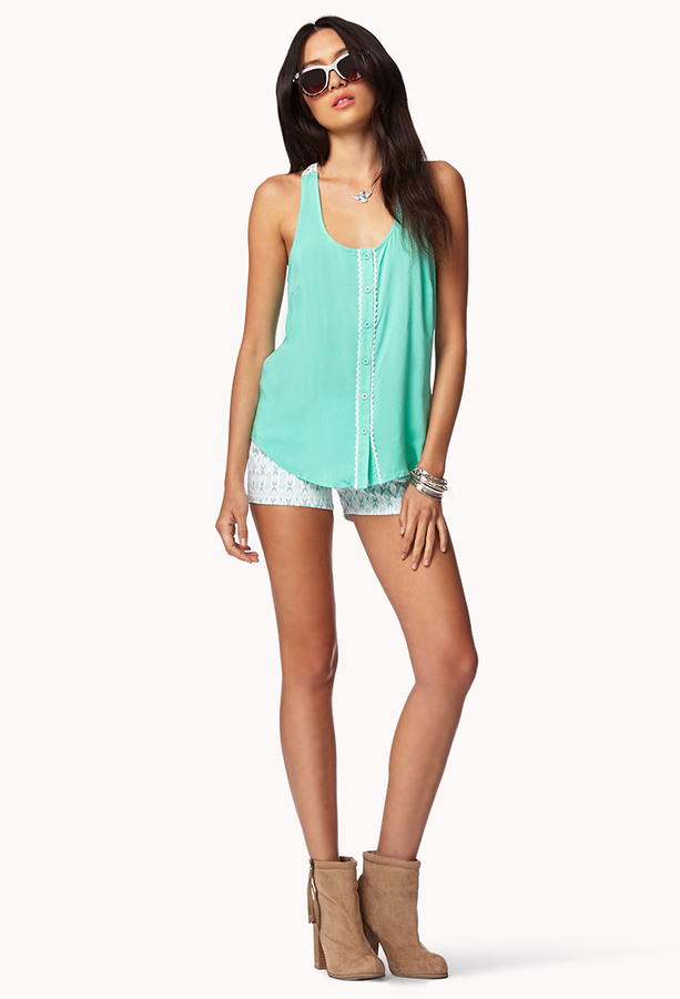 Forever 21 Essential Crochet Back Trapeze Top