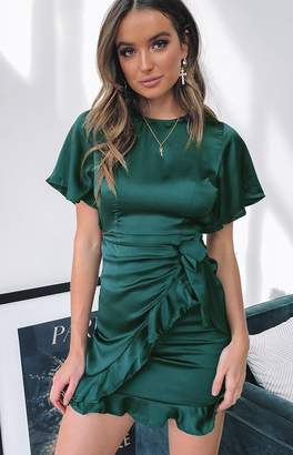 Beginning Boutique Holiday Night Dress Forest Green