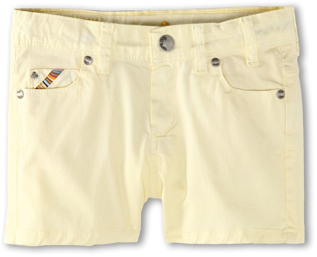 Paul Smith Dusty Short (Big Kids) (Pastel Yellow) - Apparel