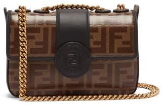 Fendi - Double F Leather Mini Baguette Bag - Womens - Brown Multi