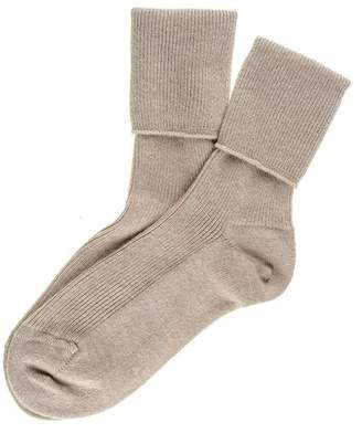 Black Ladies Sand Cashmere Socks