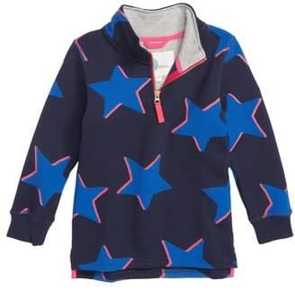 Boden Mini Shadow Star Half Zip Sweatshirt