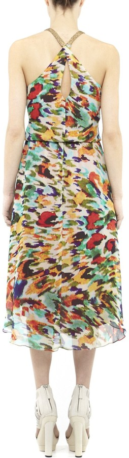 Nicole Miller Cora Abstract Animal Dress