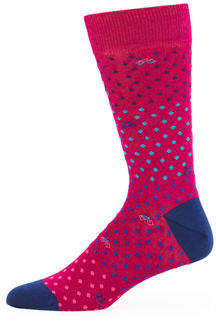 Bugatchi Men's Dot & Bicycle Socks