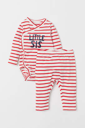H&M Sibling bodysuit and trousers