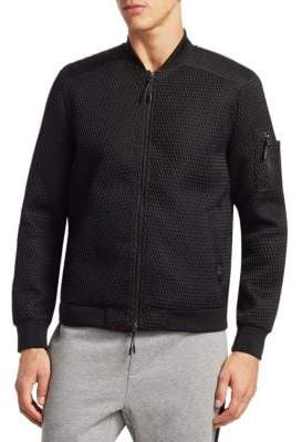 Madison Supply Slim-Fit Textured Bomber Jacket