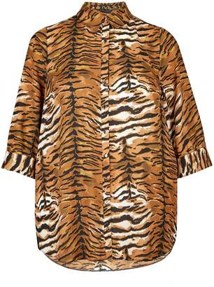 Dorothy Perkins Womens **Dp Curve Tiger 3/4 Sleeve Shirt