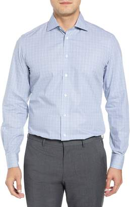 Luciano Barbera Slim Fit Check Dress Shirt
