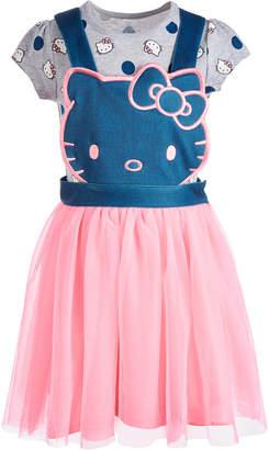Hello Kitty Little Girls 2-Pc. Print T-Shirt & Pinafore Dress