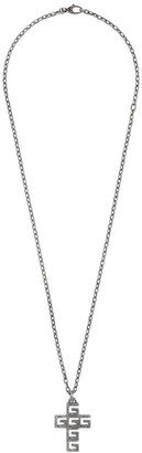 db808036d Gucci Necklace with Square G cross in silver