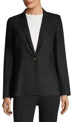 Escada Baki Side Slit Wool Jacket
